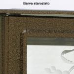 Barva urnového rámečku starozlato