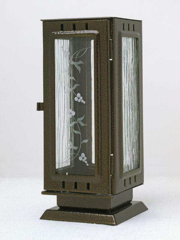 Nerezové výrobky na zakázku Náhrobní svítilna veklá 110x110x260mm, plech leštěný nerez, čtyřhranná rovná OEM Český výrobek.