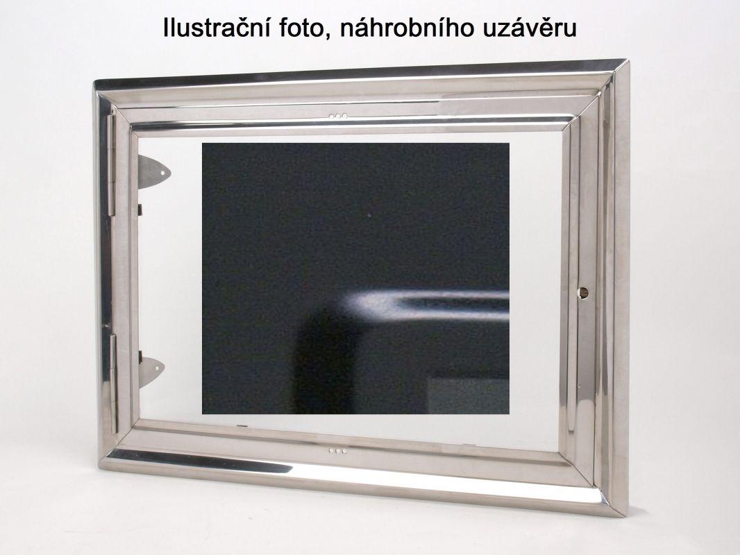 Náhrobní urnový uzávěr, barva černá