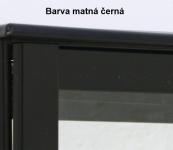 Náhrobní urnový uzávěr, matná černá