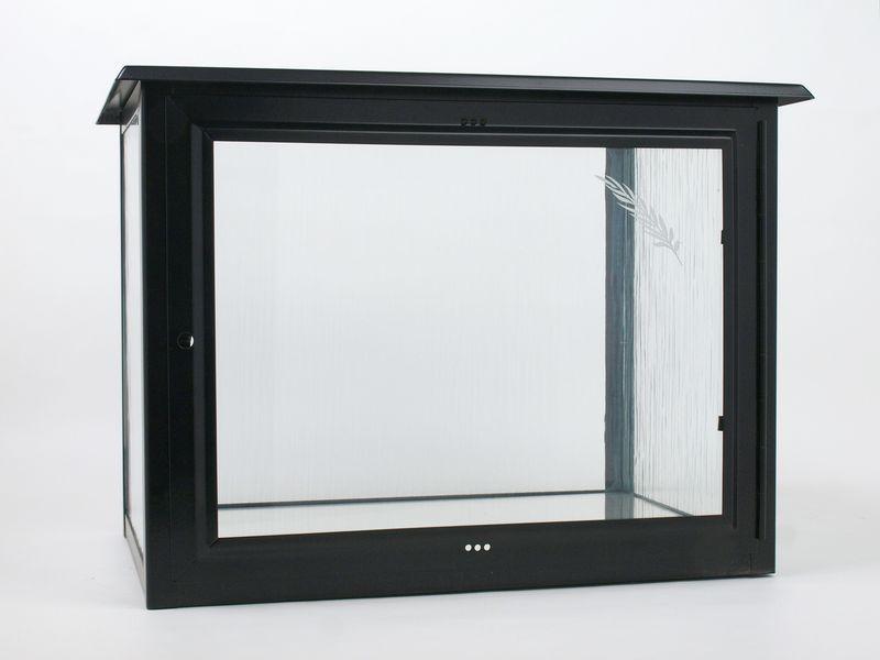 Nerezové výrobky na zakázku Skříň na dvě urny š490 x h290 x v360 mm v barvě matná černá OEM Český výrobek.