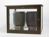 Nerezové výrobky na zakázku Skříň na dvě urny v barvě starozlato š490 x h290 x v360 mm OEM Český výrobek.