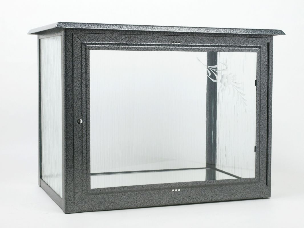 Skříň na dvě urny š490 x h290 x v360 mm v barvě starostříbro