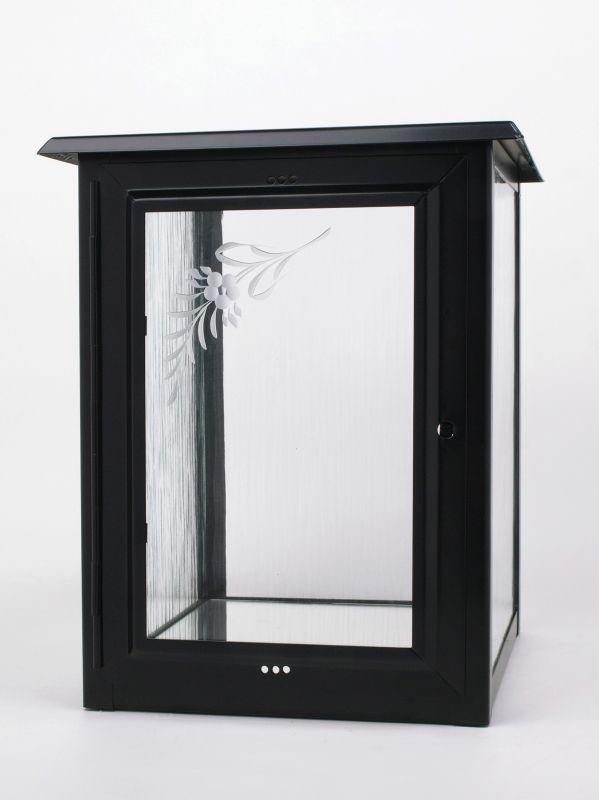 Nerezové výrobky na zakázku Skříň na jednu urnu v barvě černá, rozměr skříňky š290 x h290 x v360 mm OEM Český výrobek.