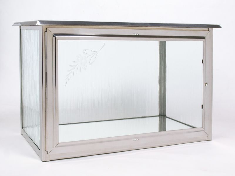 Skříňka na tři urny z nerez plechu