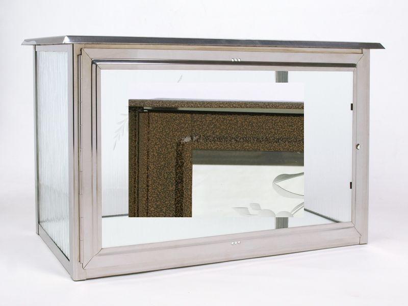 Nerezové výrobky na zakázku Skříň na tři urny v barvě starozlato š650 x h290 x v360 mm Český výrobek Český výrobek.