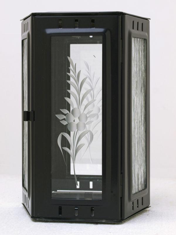 Nerezové výrobky na zakázku Svítilna závěsná lichoběžník 150 x 100 x 220 mm černá OEM Český výrobek.