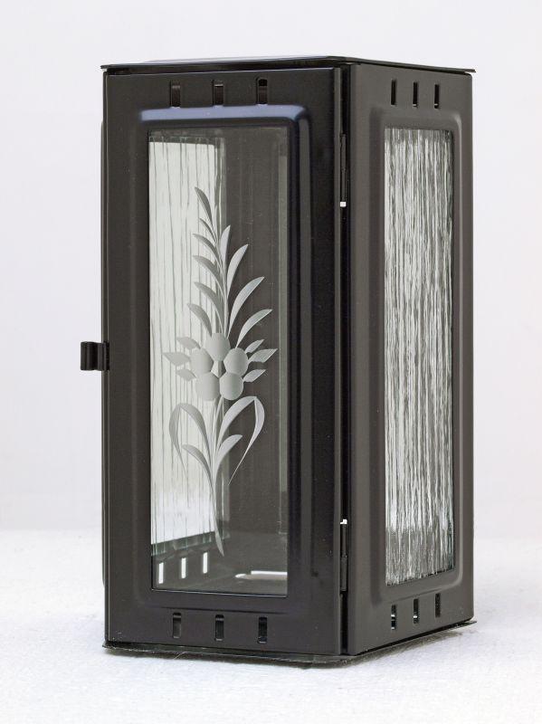 Nerezové výrobky na zakázku Svítilna závěsná malá 95 x 90 x 195 mm černá OEM Český výrobek.