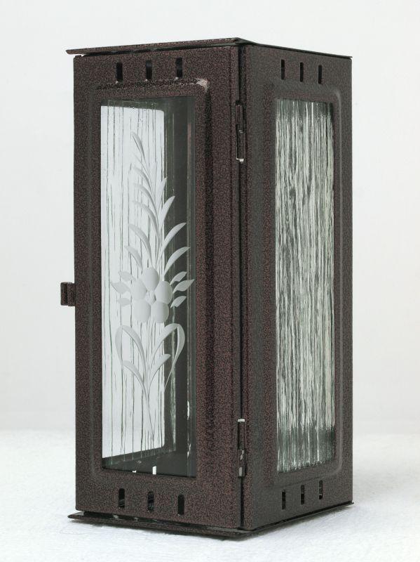 Nerezové výrobky na zakázku Svítilna závěsná malá 95 x 90 x 195 mm staroměď OEM Český výrobek.