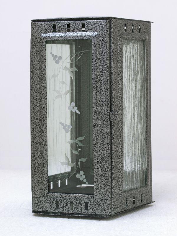 Nerezové výrobky na zakázku Svítilna závěsná malá 95 x 90 x 195 mm starostříbro OEM Český výrobek.