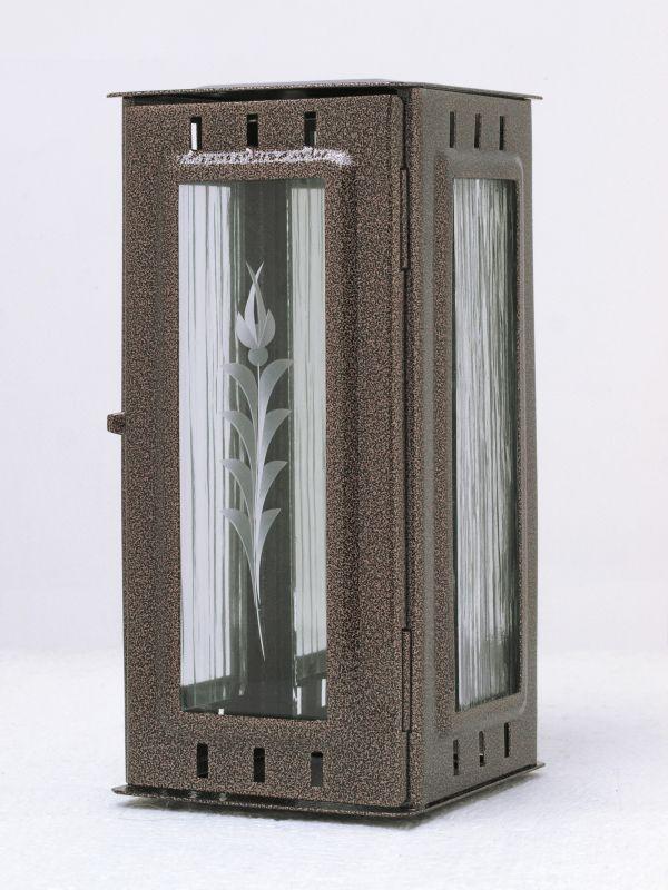 Nerezové výrobky na zakázku Svítilna závěsná malá 95 x 90 x 195 mm starozlato OEM Český výrobek.