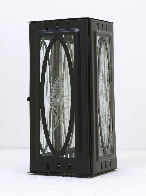 Nerezové výrobky na zakázku Svítilna závěsná malá s oválem 95 x 90 x 195 mm černá OEM Český výrobek.
