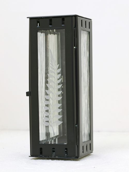 Nerezové výrobky na zakázku Svítilna závěsná mini 77 x 77 x 190 mm černá OEM Český výrobek.