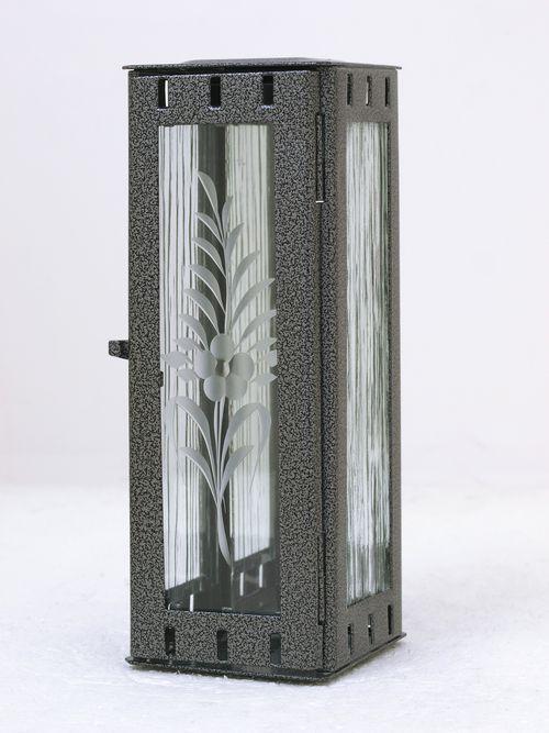 Nerezové výrobky na zakázku Svítilna závěsná mini 77 x 77 x 190 mm starostříbro OEM Český výrobek.