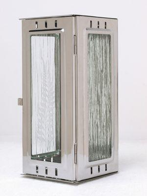 Nerezové výrobky na zakázku Svítilna závěsná velká lesklý nerez 100 x 100 x 220 mm OEM Český výrobek.