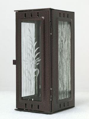 Nerezové výrobky na zakázku Svítilna závěsná velká, staroměď 100 x 100 x 220 mm OEM Český výrobek.