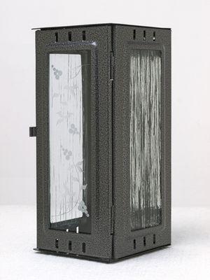Nerezové výrobky na zakázku Svítilna závěsná velká, starostříbro 100 x 100 x 220 mm OEM Český výrobek.