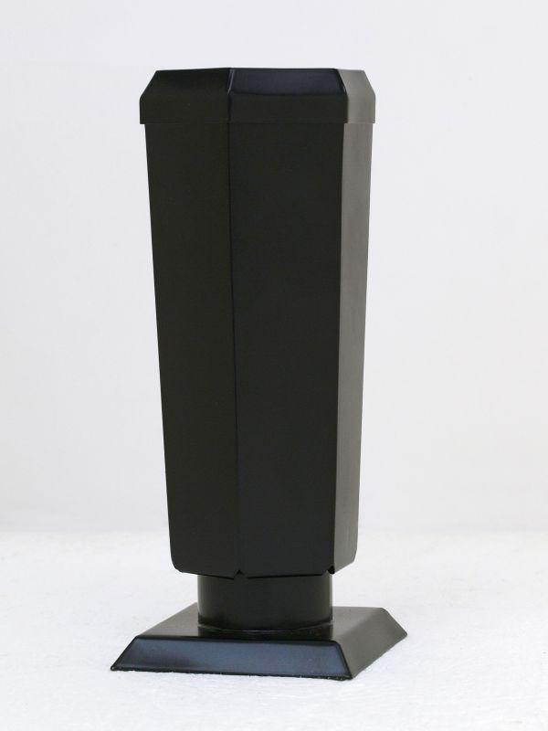 Váza černá šestihranná konická