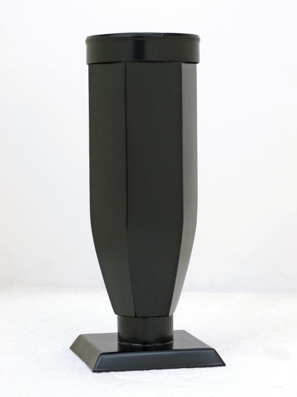 Váza černá šestihranná s kroužkem