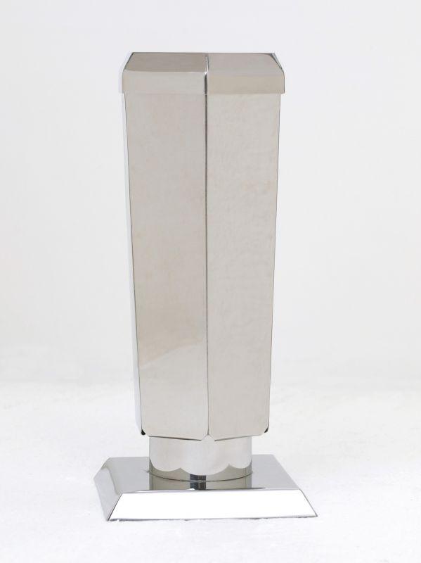 Váza nerez šestihranná konická