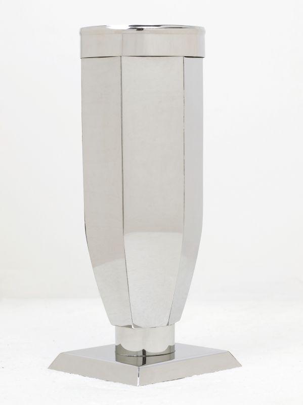 Váza nerez šestihranná s kroužkem