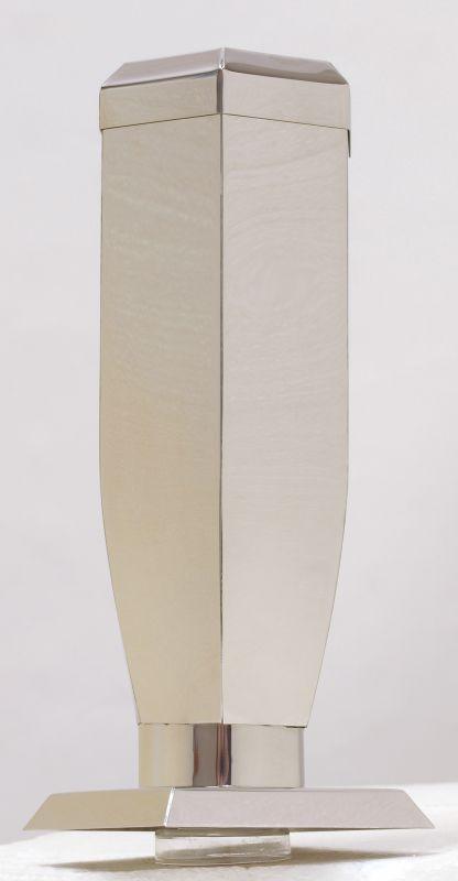 Nerezové výrobky na zakázku Váza nerez šestihranná s víčkem v245 x š100 x h100 mm Český výrobek Český výrobek.