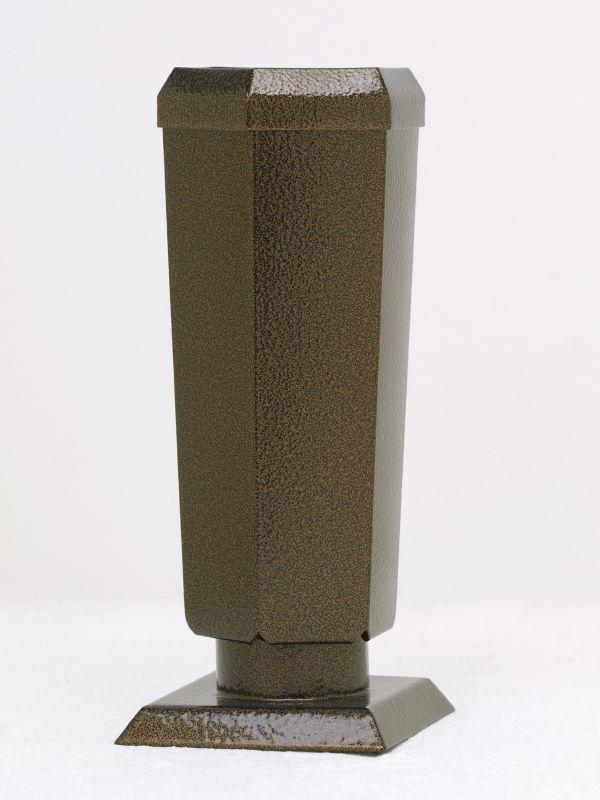 Váza staroměď šestihranná konická