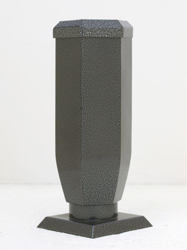 Nerezové výrobky na zakázku Váza starostříbro šestihranná s víčkem v245 x š100 x h100 mm Český výrobek Český výrobek.