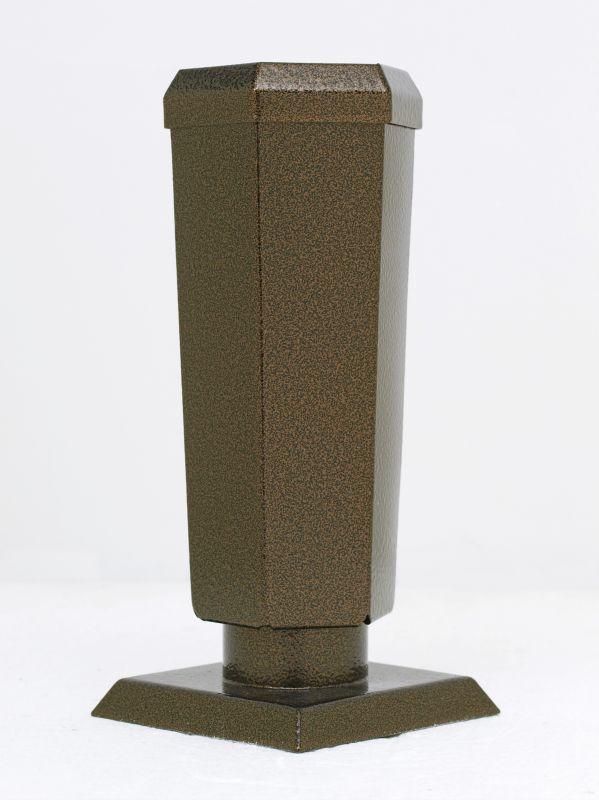Váza starozlato šestihranná konická