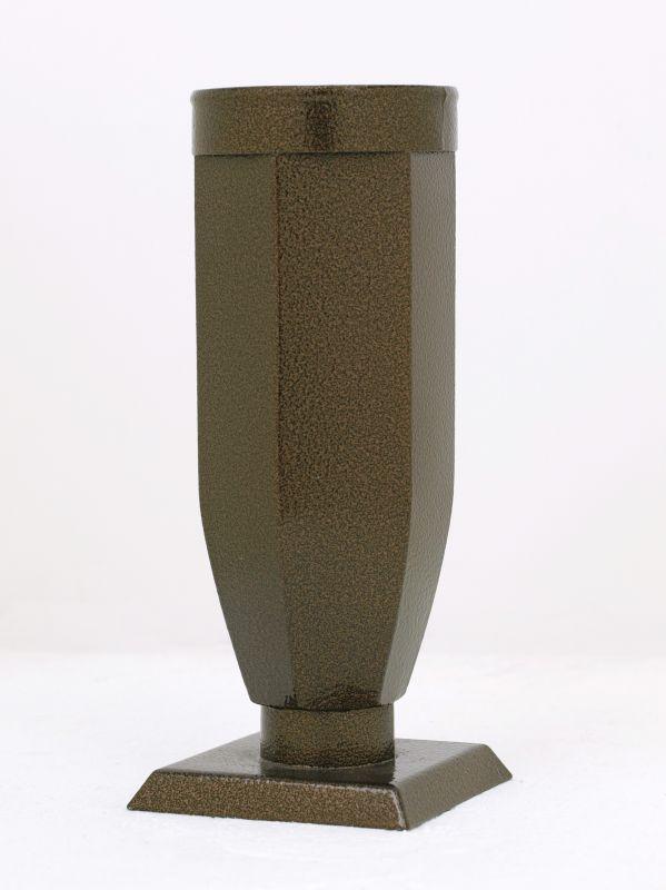 Váza starozlato šestihranná s kroužkem