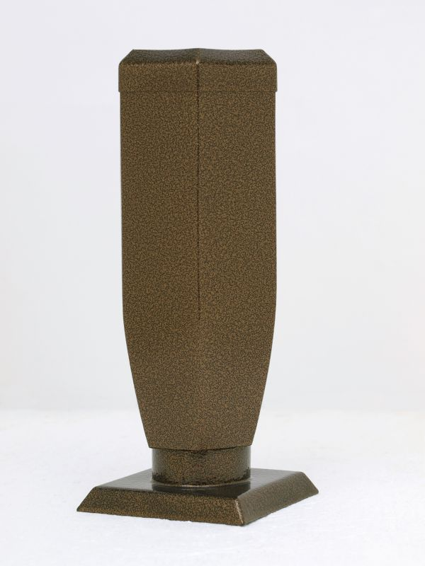 Nerezové výrobky na zakázku Váza starozlato šestihranná s víčkem v245 x š100 x h100 mm Český výrobek Český výrobek.